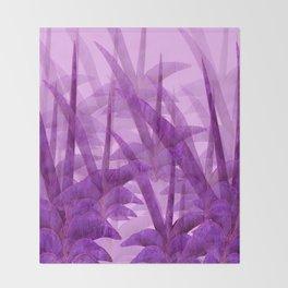 Violet Garden Succulent Plants On A Pink Background #decor #society6 #homedecor Throw Blanket