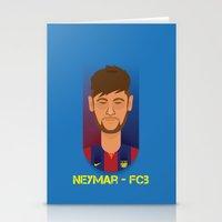 neymar Stationery Cards featuring Neymar Barcelona by Sport_Designs
