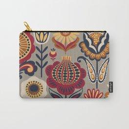 Scandinavian Folk Art Pattern Carry-All Pouch