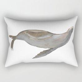 Happy Sea Lion Swimming Rectangular Pillow