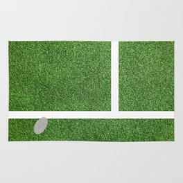 """IN"" – Hawk-Eye - green Rug"