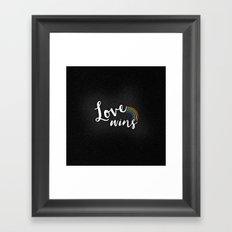 Loves wins Framed Art Print