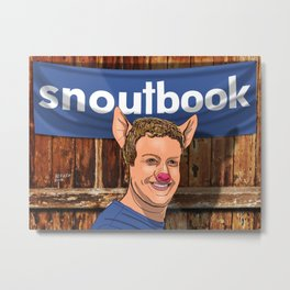 SNOUTBOOK - ANIMAL COUNTRY Metal Print