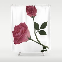 Mystical Maroon Rose Shower Curtain
