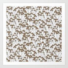 Beech Mushrooms Art Print
