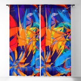 Colored corals Blackout Curtain
