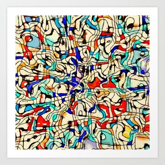 Abstract W Art Print