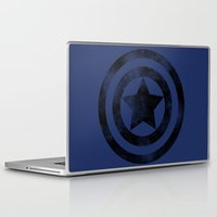 steve rogers Laptop & iPad Skins featuring Steve Rogers 008 by TheTreasure