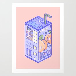 Peach Motel Art Print