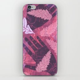 Collecting Pine Cones iPhone Skin