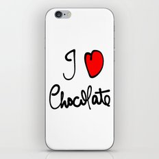 i love chocolate iPhone & iPod Skin
