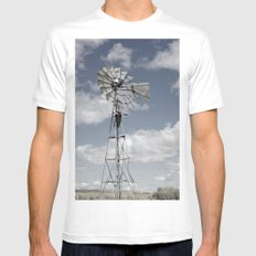 VINTAGE WINDMILL White Mens Fitted Tee SMALL