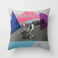 the cure Throw Pillows featuring The Cure by Naomi Vona