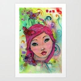 Oceana Whimsical Face Art Print