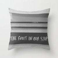 fault in our stars Throw Pillows featuring The fault in our stars by Courtney Burns