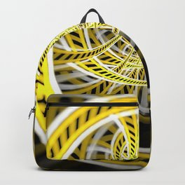 Yellow Tape Roller Coaster Ride on Fractal Rails Backpack