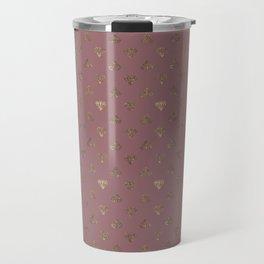 Gold Diamonds Pattern on Royal Purple Background Travel Mug