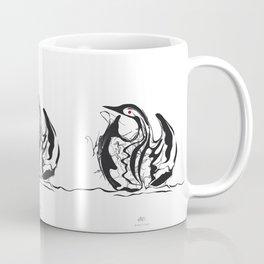 Swan-1. Black on white background-(Red eyes series) Coffee Mug