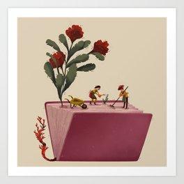 Literary garden Art Print