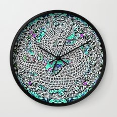 Dragon Garden Wall Clock