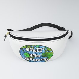 Save the planet Globe Fanny Pack