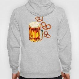 Beer & Pretzel Pattern - Black Hoody