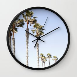 Palm Trees Swaying in the Breeze Wall Clock