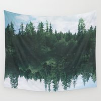 lake Wall Tapestries featuring lake by cOnNymArshAuS