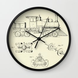 Locomotive Engine-1891 Wall Clock