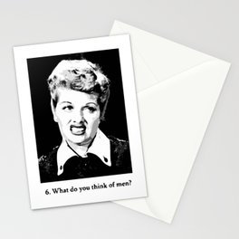 What do you think of men? Stationery Cards