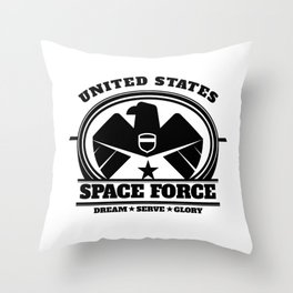 US Space Force Art | Military Branch Bald Eagle Light Throw Pillow