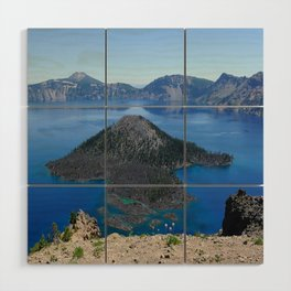 Crater Lake Volcanic Crater Oregon USA Wood Wall Art