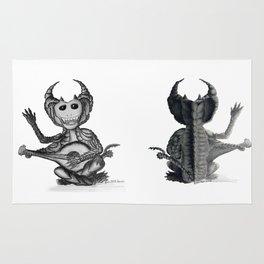 Nikademus, the Dragon Lute Player Rug