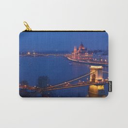 Panorama of Budapest, Hungary, with the Chain Bridge and the Parliament. Carry-All Pouch