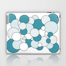 Bubbles - blue, gray and white. Laptop & iPad Skin