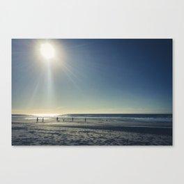 Cricket on the Beach Canvas Print