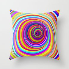 Hypnotic Psychedelic Vertigo Hole Throw Pillow