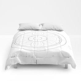 Small architectural rosette Comforters