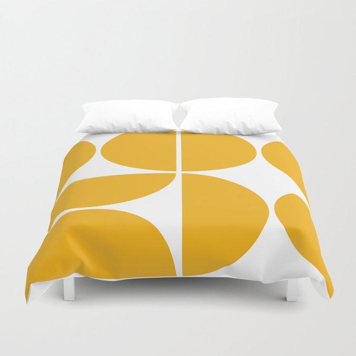 Mid Century Modern Yellow Square Bettbezug