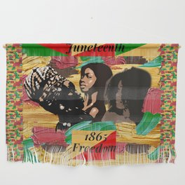 Juneteenth 1865 Freedom Collage Wall Hanging