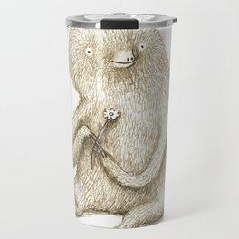 Sloth With Flower Travel Mug