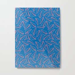Blue Rainforest Leaves Metal Print
