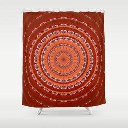 Fall to Winter Mandala Shower Curtain