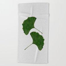 Ginkgo Leaf II Beach Towel