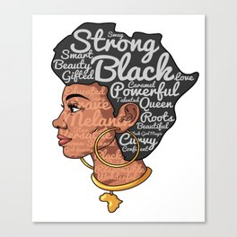 Melanin Afro Motivation Woman Canvas Print