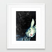 queer Framed Art Prints featuring Queer Rabbit by NRL Photography