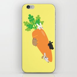Giant Carrot and Bunnies iPhone Skin