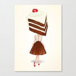 Cake Head Pin-Up: Chocolate Cherry Canvas Print