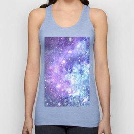 Grunge Galaxy Lavender Periwinkle Blue Unisex Tank Top