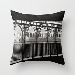 Jannowitzbruecke - Berlin - B&W Throw Pillow